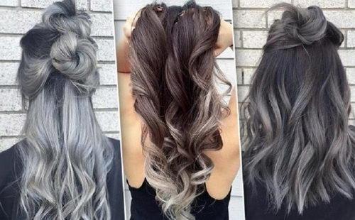 Балаяж на черные волосы