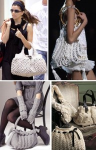 С чем носить вязаные сумки