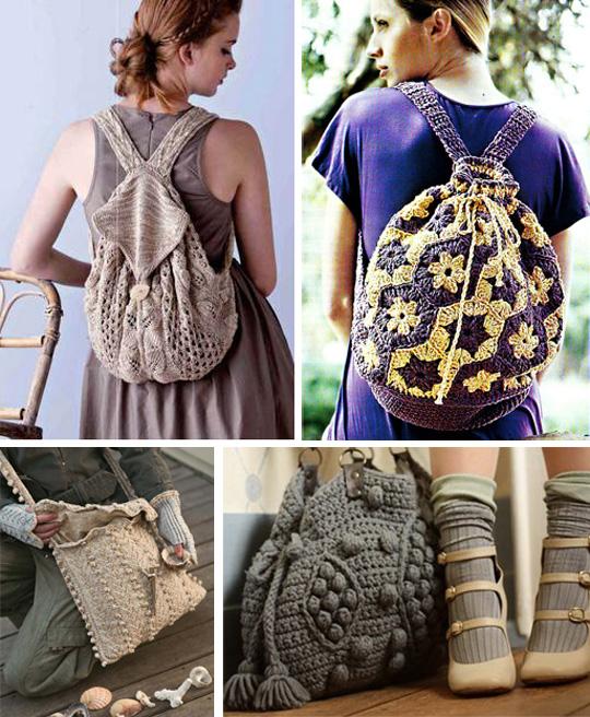 с чем носить вязаные сумки креативные идеи