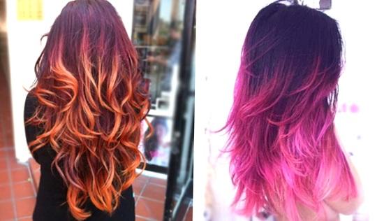 как покрасить волосы омбре дома
