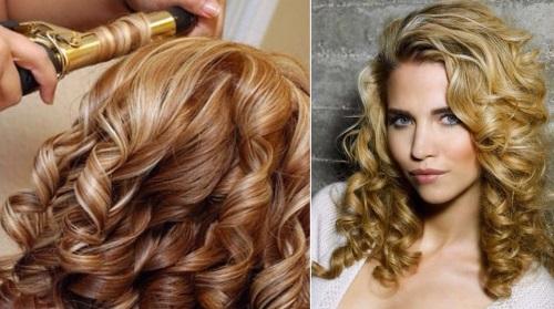 Как сделать крупные локоны на средние волосы фото 82