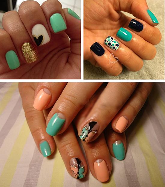 Маникюр с разными цветами на ногтях: фото, идеи, цветовые ...