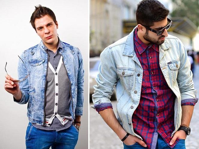 бывал с чем носить мужскую джинсовую куртку фото рождаются светло-серыми или